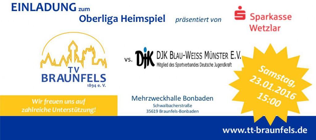 Spielankündigung TV Braunfels - DJK Münster