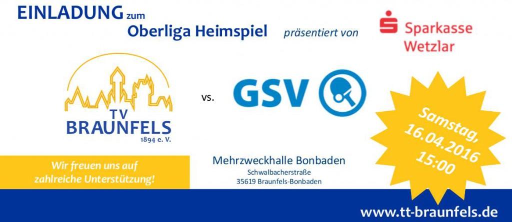 Spielvorschau TV Braunfels vs. Gießener SV